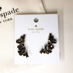 Kate Spade Black Smokey Ear Crawler Earrings